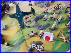 Original circa 1963 Marx Minature Sands of Iwo Jima Playset Never played with