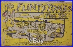 Original vintage Marx FLINTSTONES playset 4672 plastic town dinosaurs Fred Wilma