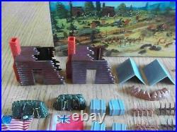 RARE 1963 MARX Miniature Revolutionary War playset 99% Complete in C-8 Box