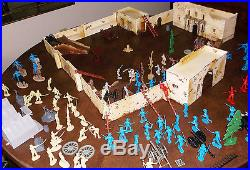 RARE Classic Toy Soldiers original litho metal Alamo playset including Marx pcs