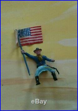 RARE Marx Custer's Last Stand Miniature Play Set Boxed/with Mat