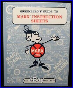 RARE NEAR MINT 1st EDITION HB GREENBERG'S GUIDE TO MARX INSTRUCTION SHEETS 668pg