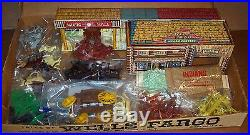 RARE VINTAGE MARX MAR TOYS TALES OF WELLS FARGO No. 4264 SERIES 1000 WithBOX WOW