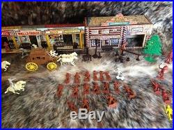 Rare Vintage Marx Tales Of Wells Fargo Electric Train & Play Set In Box