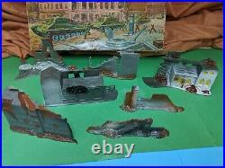 RARE Vintage Marx Miniature 20 MINUTES TO BERLIN Play Set, original box 1960'S