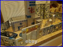 RARE Vintage Marx Tom Corbett Space Academy Play Set Car Furniture Gate Wall ETC