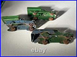 Rare 1930's Marx Toys Pressed Steel Parking Lot Playset in Box, 5 Cars & Trucks