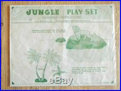 Rare 1960 MARX Jungle Playset #3716 100% complete in C-8 Box withBags, Instructs