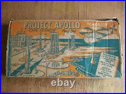 Rare 1966 MARX Project Apollo playset 100% Complete in C-7 Box withInstr. & Bags