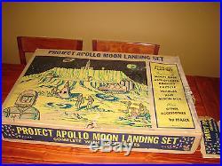 Rare 1968 Marx Project Apollo Moon Landing Set #4646