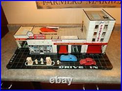 Rare Allstate Gas Station Marx 1960s Tin