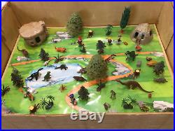 Rare Flintstones Miniature Tinykin Marx Playset Store Display Nm In Shipping Box
