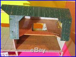 Rare Marx'60 Platform Double Silo Aqua Green Roof Platform Farm Tin Only! 365-Y