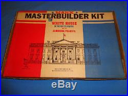 Rare Marx Masterbuilder Kit The White House of the US with35 Mini. Presidents. New