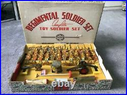 Rare Marx REGIMENTAL Boxed TIN Soldier Set, 1940, Lots of Play Value Here