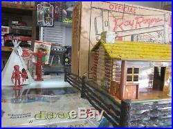 Rare Marx Roy Rogers Western Town 5000 Play Set Stage Coach, House, Town, More