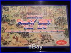 Rare Marx figure set miniature Play Set Hunters Natives Wild Life MIB