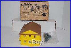 Rare Original Vintage Marx Marxville Army Barracks Play Set Orig Box