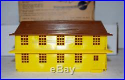 Rare Original Vintage Marx Marxville Army Barracks Play Set Orig Box