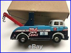 Rare Tin Toy Marx Wrecker Tow Truck Sears Allstate Service Station Playset Part
