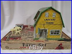 Rare VINTAGE MARX MODERN FARM SET SERIES 500 BARN ANIMALS WITH BOX Model 3941