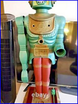 Rare Vintage 1960's Marx Big Loo Robot Stands 38 Tall! Robot Only See Descript