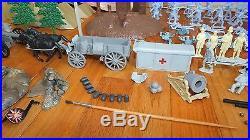 Rare Vintage 1961 Marx Giant Blue & Gray CIVIL War Battle Playset & Original Box
