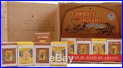 Rare Vintage 1962 Marx Tiny Traders Miniature playset Figures Indians SCARCE