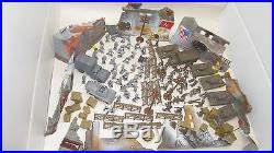 Rare Vintage MARX Miniature Play Set 20 MINUTES TO BERLIN! (Not Complete)