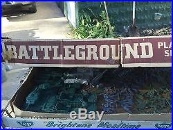Rare Vintage Marx Battleground Play set. Original Box And Accessories