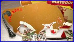 Rare Vintage Marx Ferdinand And Matador With Later Year Box Disney