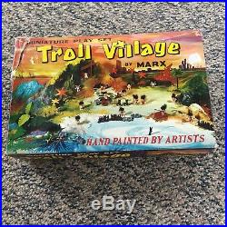 Rare Vintage Marx Troll Village Toy Playset