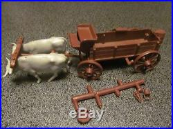 Rare vintage Marx Wagon Train/Gunsmoke brown wagon with oxen