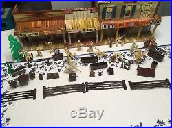 Reduced! Vintage Marx Roy Rogers Mineral City Western Town, Figures, Furniture