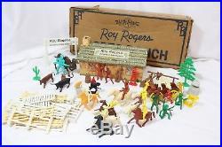 Roy Rogers Double R Bar Ranch Vintage Marx Playset Fence Figures Horses Cowboys
