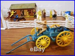 Roy Rogers Double R Bar Ranch Vintage Marx Playset withExtras