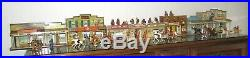 Roy Rogers Western Tin Town by Marx Complete 3 Sections & 37 Figurines Free Ship