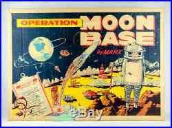 SUPER RARE Vintage Original 1965 Marx Operation Moon Base Playset