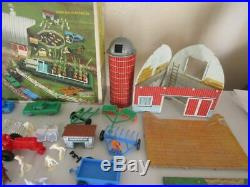 Scarce 1959-60 Marx Sears Growing Farm -barn- Playset In Ob! Excellent