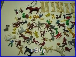 Several Vintage Playsets- MARX Roy Rogers Western Town Rin Tin Tin and more