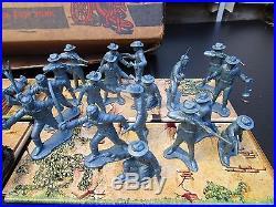THE ALAMO DAVY CROCKETT PLAY SET withBOX MARX WALT DISNEY TOY FESS PARKER