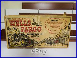 Tales of Wells Fargo Marx Electric Train Set COMPLETE Original Box Nice Shape