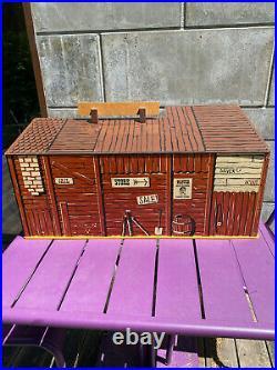 The LONE RANGER Dodge city playset very rare Marx Toys / Gabriel / SIO