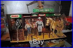 The Lone Ranger Rides Again Dodge City Playset + Figures Nice Set