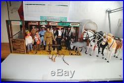 The Lone Ranger Rides Again Dodge City Playset -most Complete Set On Ebay