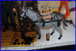 The Lone Ranger Rides Again Dodge City -playset -with Figures! Nice Set