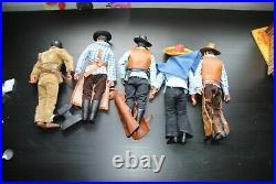 The Lone Ranger Rides Again Figures + Stables Nice Rare Playset