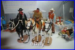 The Lone Ranger Rides Again Tonto, Butch-one Ranger With Horses Nice Set