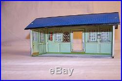 Three Marx Playset Tin Buildings