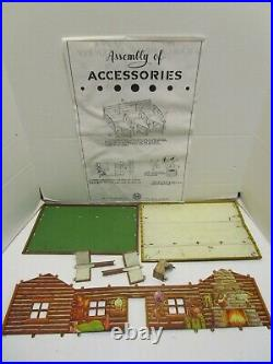 VINTAGE 1950's MARX ROY ROGERS RODEO RANCH NO. 3990 PLAY SET WithBOX